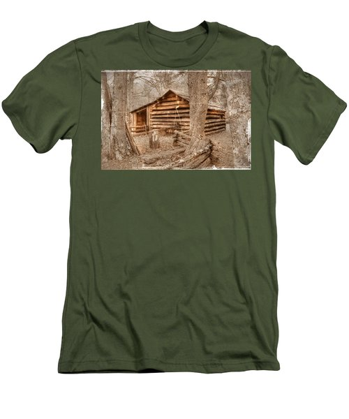 Old Mill Work Cabin Men's T-Shirt (Slim Fit) by Dan Stone