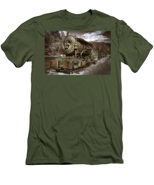 Old Mine Train Banff Men's T-Shirt (Athletic Fit)