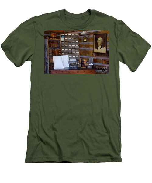 Men's T-Shirt (Slim Fit) featuring the photograph Old West 3 by Deniece Platt