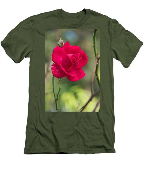 Men's T-Shirt (Slim Fit) featuring the photograph One Rose by Joseph Yarbrough
