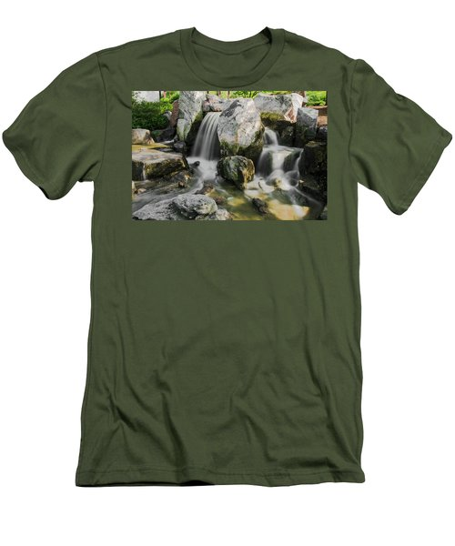 Osaka Garden Waterfall Men's T-Shirt (Athletic Fit)