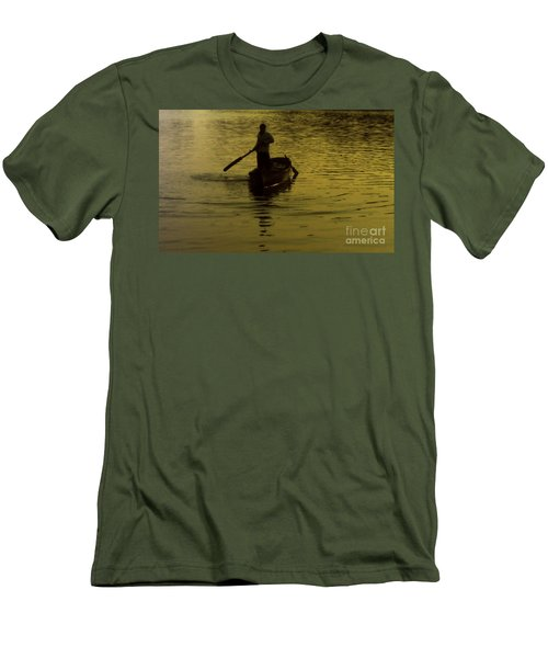 Men's T-Shirt (Slim Fit) featuring the photograph Paddle Boy by Lydia Holly