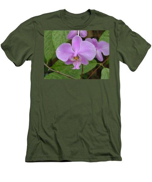 Pale Pink Orchid Men's T-Shirt (Athletic Fit)