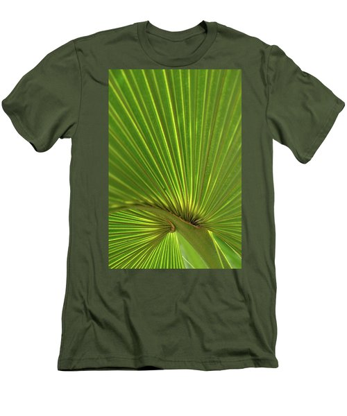 Men's T-Shirt (Slim Fit) featuring the photograph Palm Leaf by JD Grimes