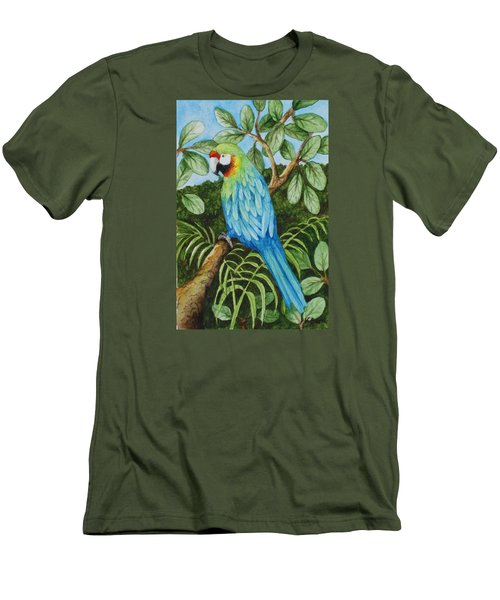 Parrot Men's T-Shirt (Slim Fit) by Katherine Young-Beck