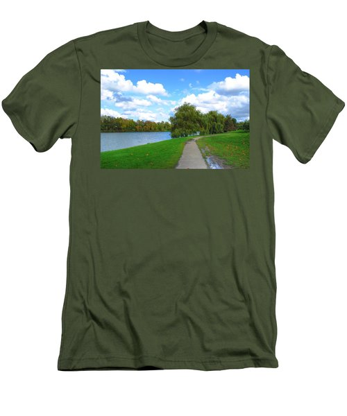 Men's T-Shirt (Slim Fit) featuring the photograph Path by Michael Frank Jr