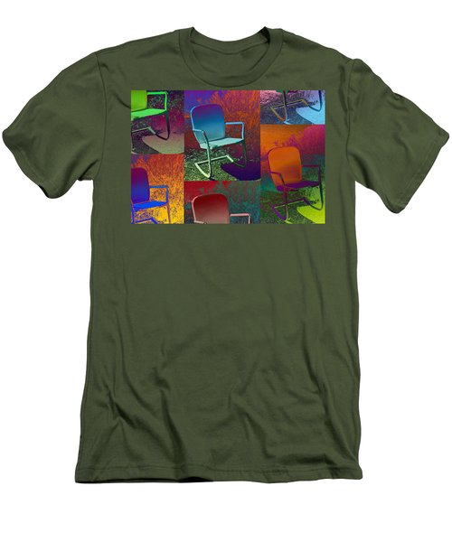 Men's T-Shirt (Slim Fit) featuring the photograph Patio Chair by David Pantuso