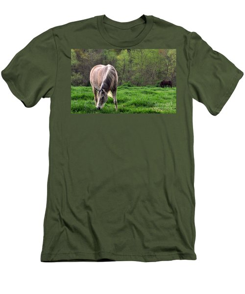 Peaceful Pasture Men's T-Shirt (Slim Fit) by Lydia Holly