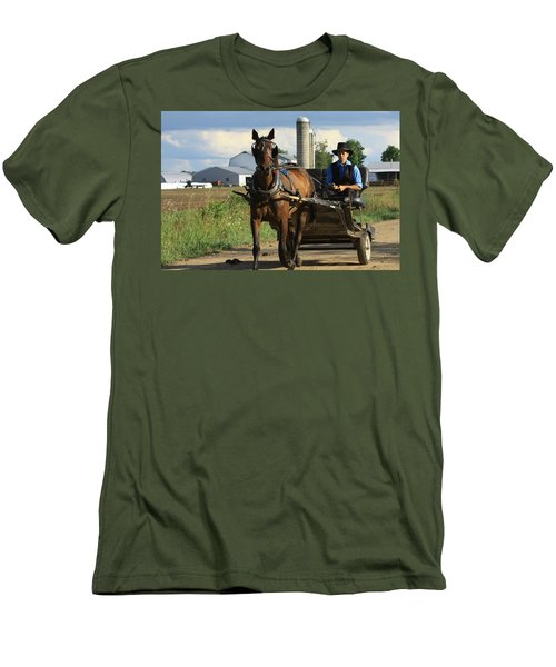 Peaceful Road Men's T-Shirt (Athletic Fit)