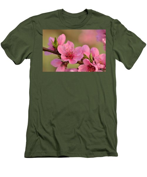 Peach Beautiful Men's T-Shirt (Athletic Fit)