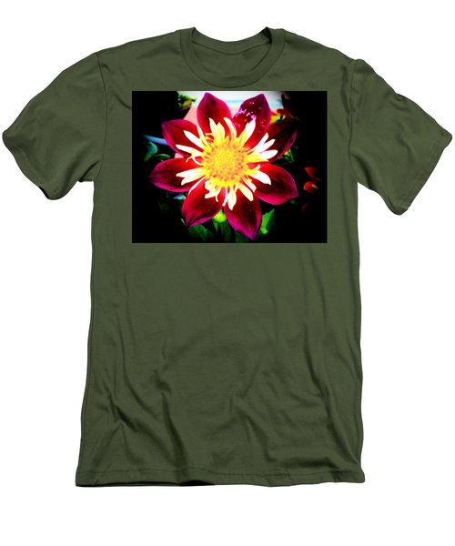 Men's T-Shirt (Slim Fit) featuring the photograph Personally Dahlia by Lisa Brandel