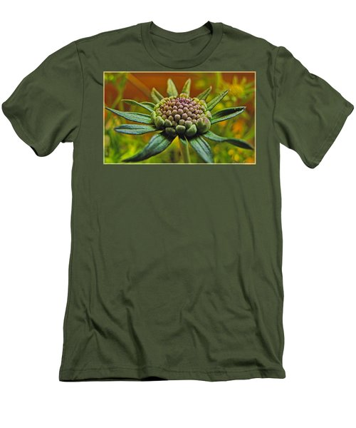 Men's T-Shirt (Slim Fit) featuring the photograph Pinchshin Bud by Debbie Portwood