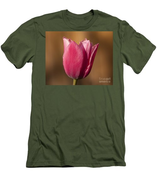 Men's T-Shirt (Slim Fit) featuring the photograph Pink by Eunice Gibb