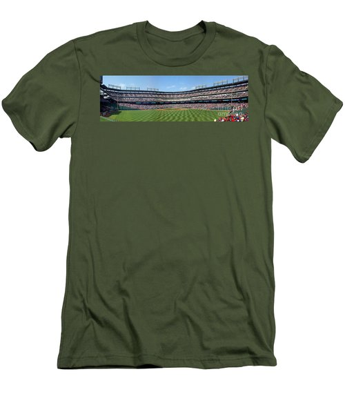 Globe Life Park, Home Of The Texas Rangers Men's T-Shirt (Athletic Fit)