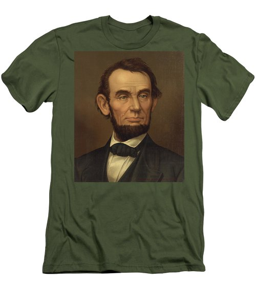 Men's T-Shirt (Slim Fit) featuring the photograph President Of The United States Of America - Abraham Lincoln  by International  Images