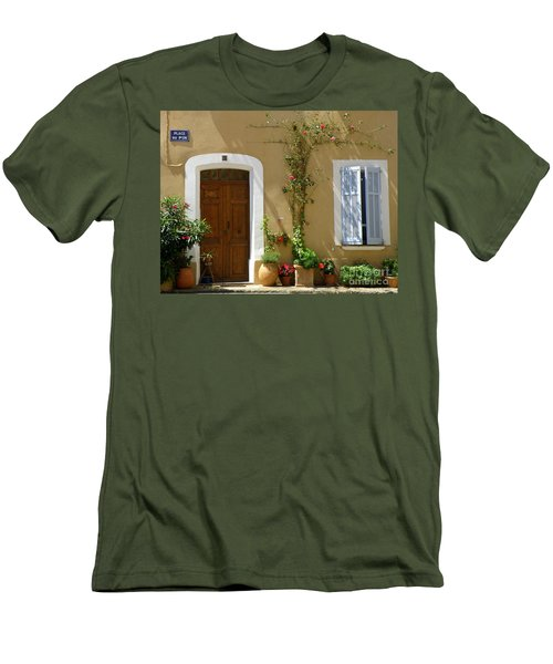 Men's T-Shirt (Slim Fit) featuring the photograph Provence Door 3 by Lainie Wrightson