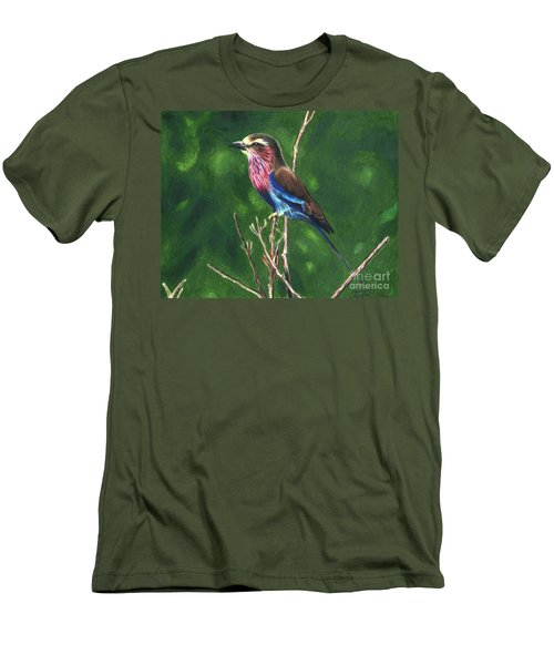 Purple And Blue Bird Men's T-Shirt (Athletic Fit)