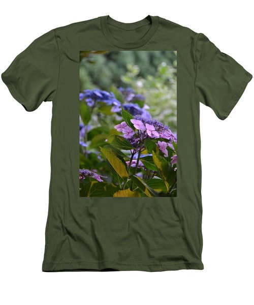 Purple And Green Men's T-Shirt (Athletic Fit)