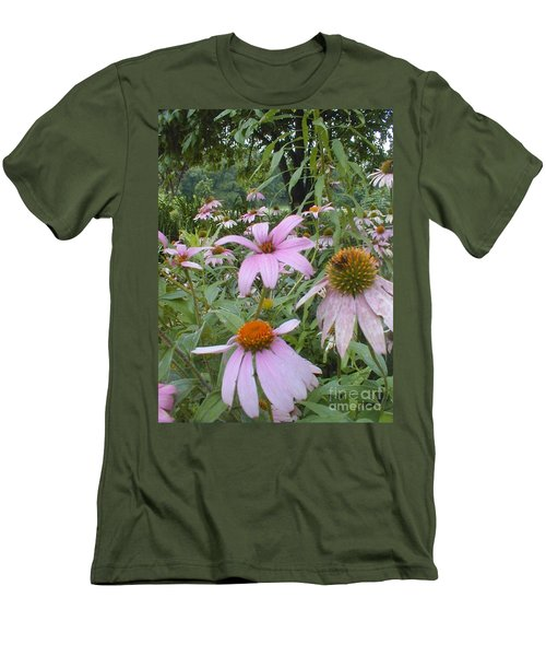 Purple Coneflowers Men's T-Shirt (Athletic Fit)