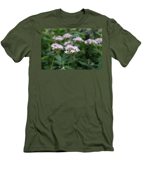Men's T-Shirt (Slim Fit) featuring the photograph Purple Flower by Jennifer Ancker