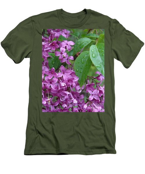 Purple Lilac Men's T-Shirt (Athletic Fit)
