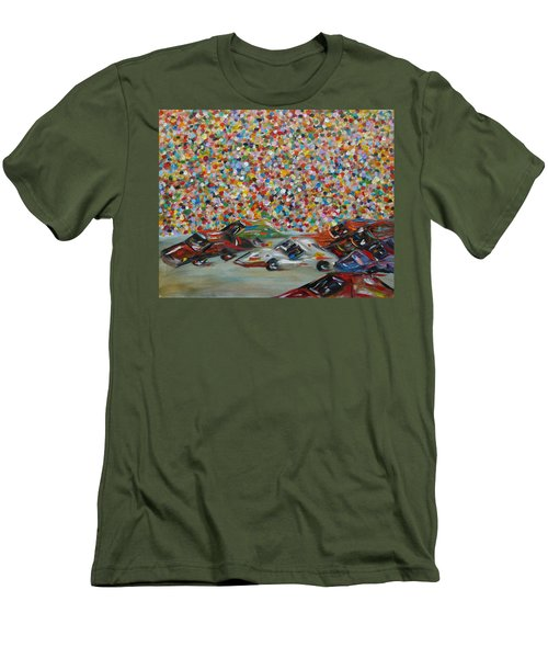 Race Day Men's T-Shirt (Slim Fit) by Judith Rhue