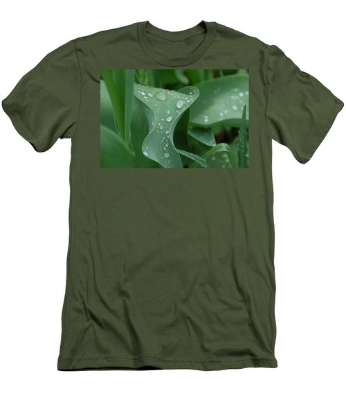 Men's T-Shirt (Slim Fit) featuring the photograph Raindrops by Aimee L Maher Photography and Art Visit ALMGallerydotcom