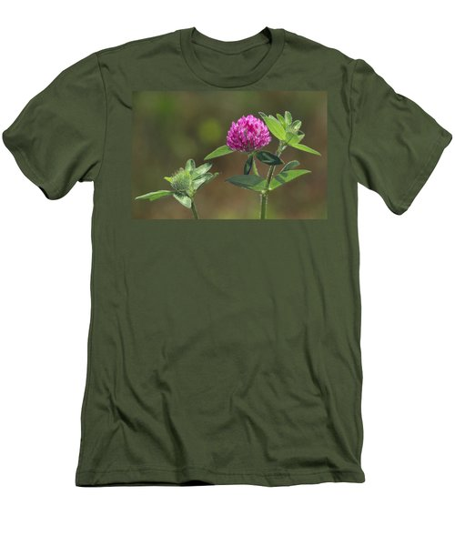 Red Clover Blossom Men's T-Shirt (Athletic Fit)