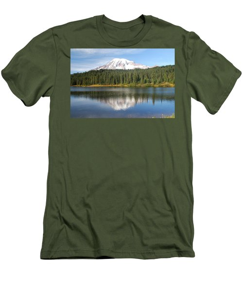 Reflection Lake - Mt. Rainier Men's T-Shirt (Athletic Fit)