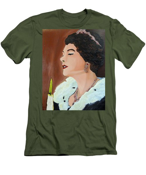 Men's T-Shirt (Slim Fit) featuring the painting Renata by Lisa Brandel