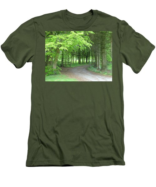 Road Into The Woods Men's T-Shirt (Athletic Fit)