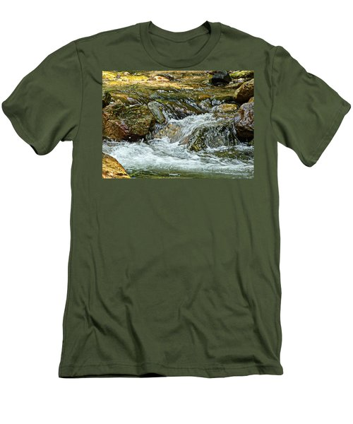 Men's T-Shirt (Slim Fit) featuring the photograph Rocky River by Lydia Holly