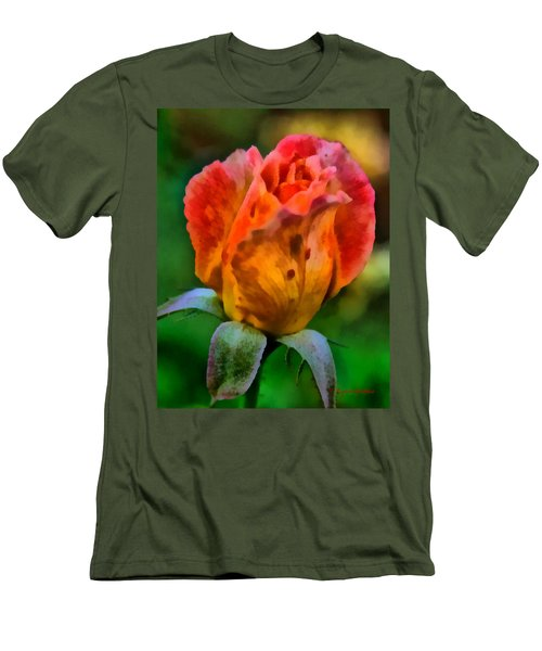 Men's T-Shirt (Slim Fit) featuring the painting Rose by Lynne Jenkins