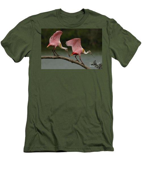 Rosiette Spoonbills Men's T-Shirt (Slim Fit) by Bob Christopher