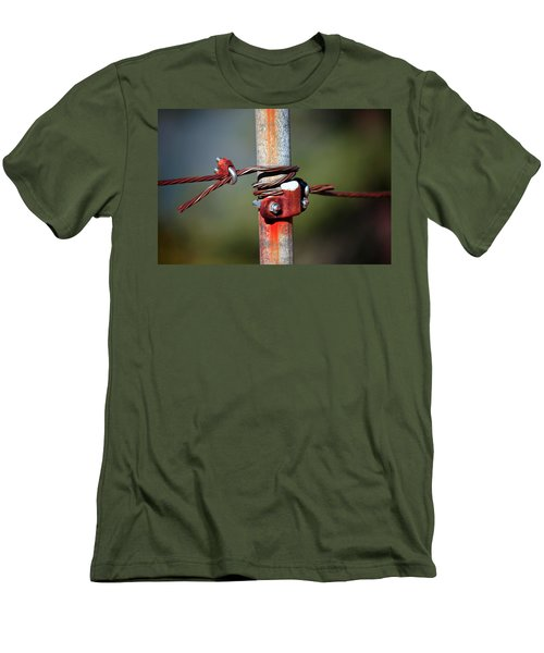 Rusted Fence Post 2 Men's T-Shirt (Athletic Fit)