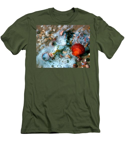Men's T-Shirt (Slim Fit) featuring the photograph Scallop And Seaweed 11c by Gerry Gantt