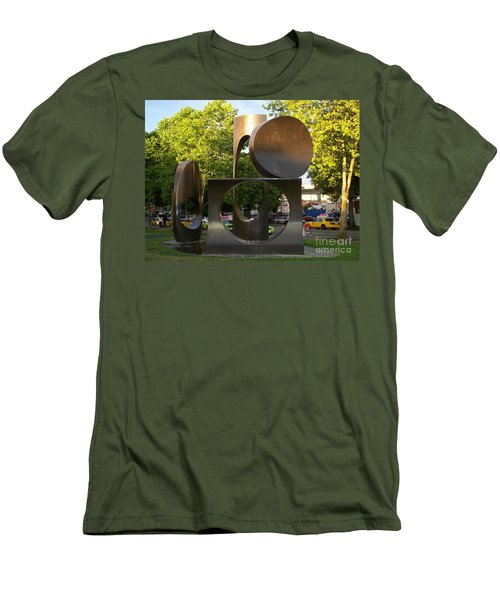 Men's T-Shirt (Slim Fit) featuring the photograph Seattle Sculpture by Chalet Roome-Rigdon