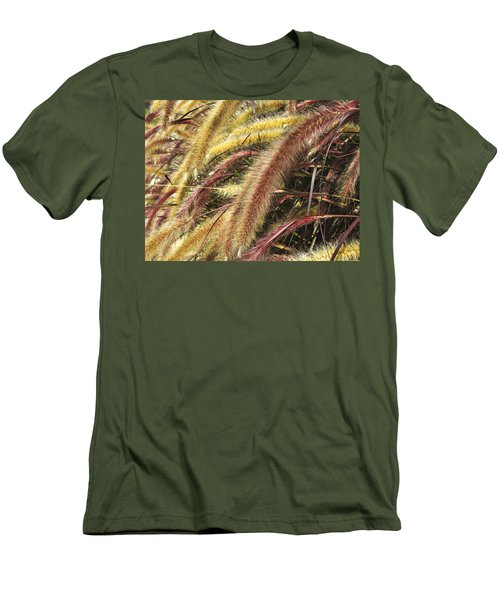 Setaria Italica Red Jewel - Red Bristle Grass Men's T-Shirt (Slim Fit) by Anne Mott