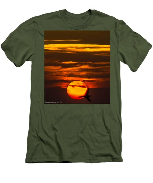 Setting Sun Flyby Men's T-Shirt (Athletic Fit)