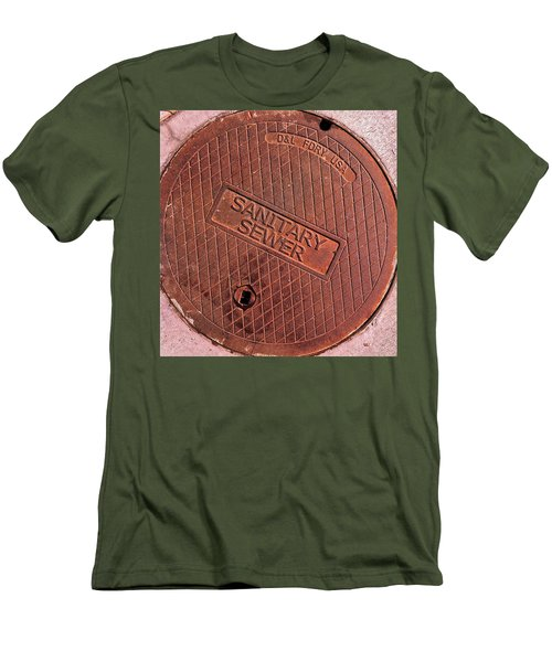 Sewer Cover Men's T-Shirt (Slim Fit) by Bill Owen