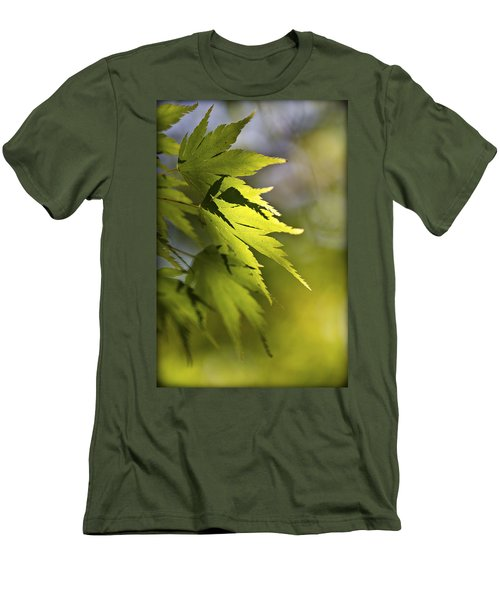 Men's T-Shirt (Slim Fit) featuring the photograph Shades Of Green And Gold. by Clare Bambers