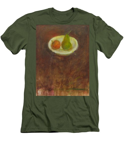 Men's T-Shirt (Slim Fit) featuring the painting Side By Side by Kathleen Grace