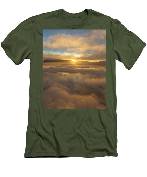 Silver Lake Sunrise Men's T-Shirt (Slim Fit) by Mark Greenberg