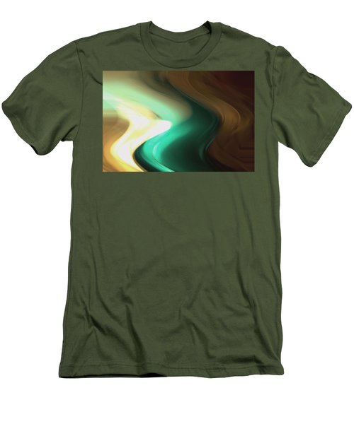 Men's T-Shirt (Slim Fit) featuring the mixed media Sine Of Ninety by Terence Morrissey