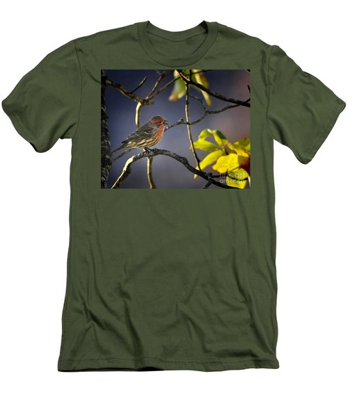Men's T-Shirt (Slim Fit) featuring the photograph Singing In The Morning by Nava Thompson