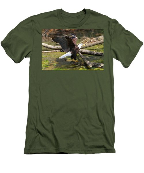 Men's T-Shirt (Slim Fit) featuring the photograph Soaring Eagle by Elizabeth Winter