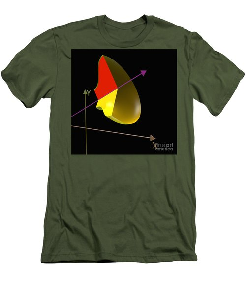 Men's T-Shirt (Slim Fit) featuring the digital art Solid Of Revolution 4 by Russell Kightley