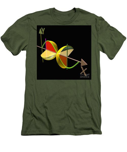 Men's T-Shirt (Slim Fit) featuring the digital art Solid Of Revolution 5 by Russell Kightley