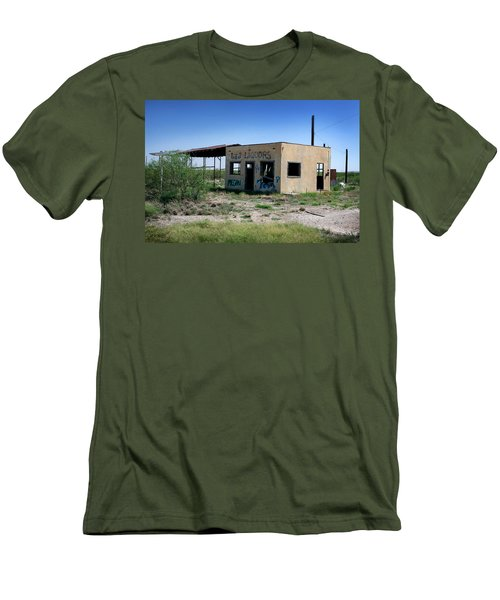 Men's T-Shirt (Slim Fit) featuring the photograph Somewhere On The Old Pecos Highway Number 7 by Lon Casler Bixby