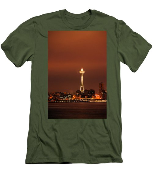 Space Needle Morning Men's T-Shirt (Athletic Fit)